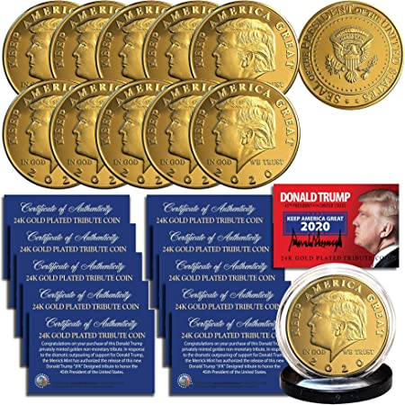 1//4 Gram .9999 Fine 24k Gold Bullion Bar In COA TRUMP 2020 Limited Edition