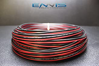 14 GAUGE 100 FT RED BLACK SPEAKER ZIP WIRE AWG CABLE POWER STRANDED COPPER CLAD BY ENNIS ELECTRONICS
