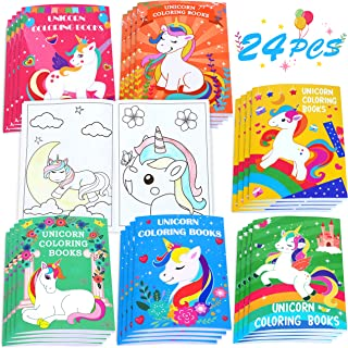 24PCS Kids Unicorn Coloring Books-Arts and Crafts for Girls Ages 3,4,6,8,10,12 Year Olds-Birthday Gifts Party Favors Valen...