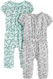 Simple Joys by Carter's 2-Pack Jumpsuits Bébé Fille, Lot de 2