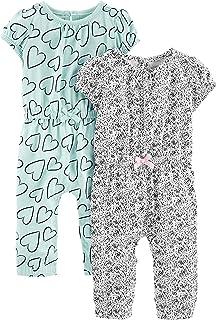 Simple Joys by Carter's 2-Pack Jumpsuits Bébé Fille, Lot de 2