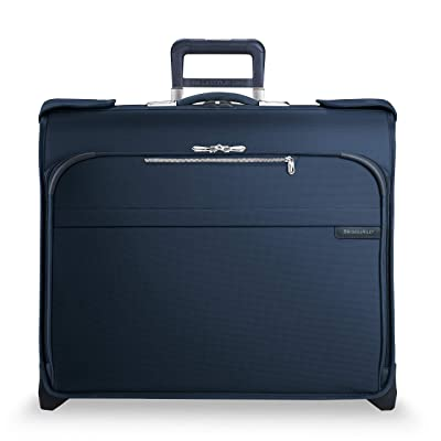 Briggs & Riley Baseline Deluxe Wheeled Garment Bag (Navy) Luggage