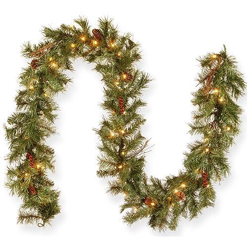 Christmas Greenery Images.Christmas Greenery Garland Amazon Com