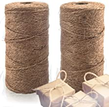 Natural Jute Twine 2 Pack - Crafting Twine String for Craft Projects, Wrapping, Packing, Gardening and More - 656 Feet of ...