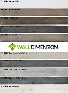 Easy Peel & Stick DIY Real Distressed Rustic Wood Wall Plank or Panel - 10 Pieces - 5