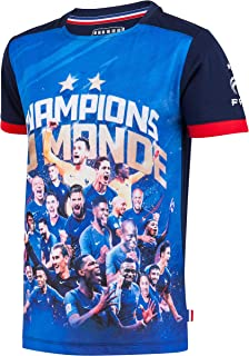 96feaf424f710 Equipe de FRANCE de football Maillot FFF - Champion du Monde - Collection  Officielle Taille Enfant