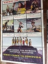 They Came To Cordura, vintage movie poster, Tab Hunter, Gary Cooper, Rita Hayworth, Van Heflin