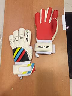GK Union Goalkeeper Gloves with Multi Colors (Red, 9.5)