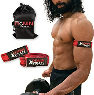 Ronin Wraps Razor Edition | Rigid BFR Occlusion Bands for Upper Body Training | Blood Flow Restriction Workouts | 2 Pack of Arm Wraps | Comes with a Carry Bag and a Free 21 Page eBook