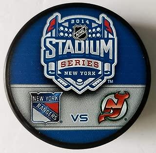 2014 Stadium Series New York Rangers New Jersey Devils Yankee Stadium NHL Hockey Puck + FREE Cube