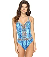 Bleu Rod Beattie - Mykonos Plunge X-Back Mio One-Piece