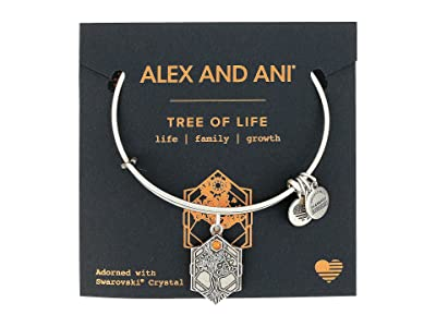 Alex and Ani Path of Symbols Tree of Life IV Bangle (Rafaelian Silver) Bracelet