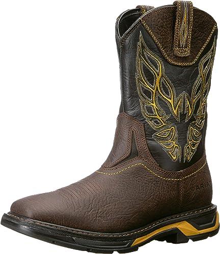 Ariat - Chaussures de Travail Workhog XT Firebird Western Hommes, 40 W EU, Bruin marron noir
