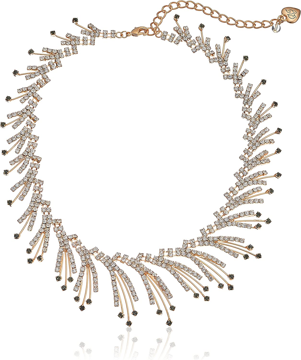Betsey Johnson Angels & Wings Crystal Spray Collar Necklace, 14