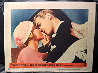 The FBI Story 1959 Original Vintage Lobby Card Movie Poster, James Stewart, Vera Miles, Mobster, Mob, Gangster, Gang