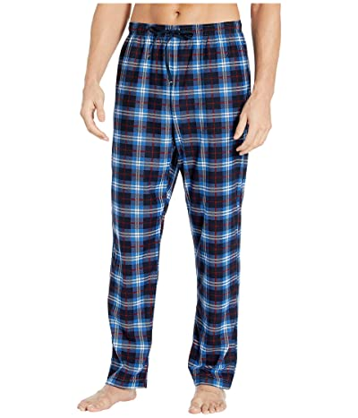 Nautica Plaid Cozy Fleece Pajama Pants (White) Men