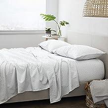 مجموعة ملاءات سرير من هوم كوليكشن iEnjoy Home Hotel Collection Premium Ultra Soft Lily Pattern 4 قطع، مقاس King، أزرق داكن