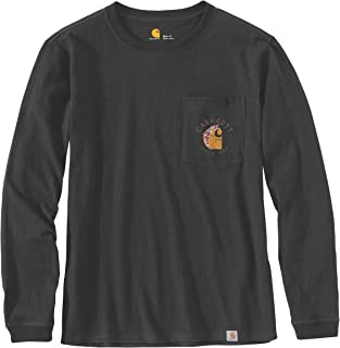 Carhartt Women's Workwear Graphic Back Pocket T-Shirt, Black, XS