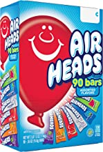 Airheads Bars, Chewy Fruit Taffy Candy, Variety Pack, Back to School for Kids, Non Melting, Party 90 Count (Packaging May ...