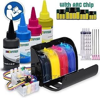 INKUTEN 400ml True Color PIGMENT Ink CISS for Expression XP-430 XP-440 XP-330 XP-340 XP-434 printer T288 288XL cartridge Continuous Ink system + 4x100ml PIGMENT Ink Bottle Set