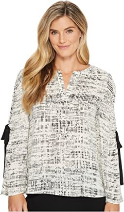 Ivanka Trump - Georgette Long Sleeve Open Arm Blouse