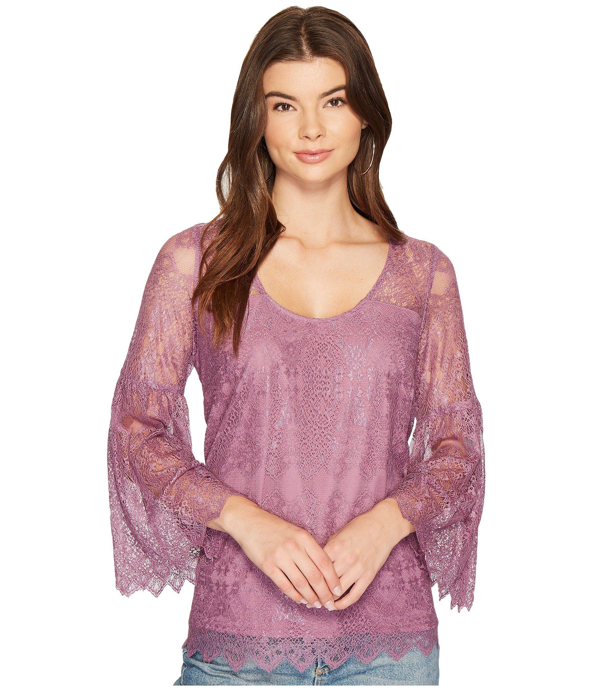 Blusa para Mujer kensie Dainty Lace Top KS9K4315  + kensie en VeoyCompro.net