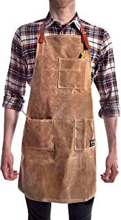 Sponsored Ad - Vulcan Workwear Utility Apron - Multi-Use Shop Apron with Pockets - Waxed Canvas Tool Apron - Mens Gifts, D...