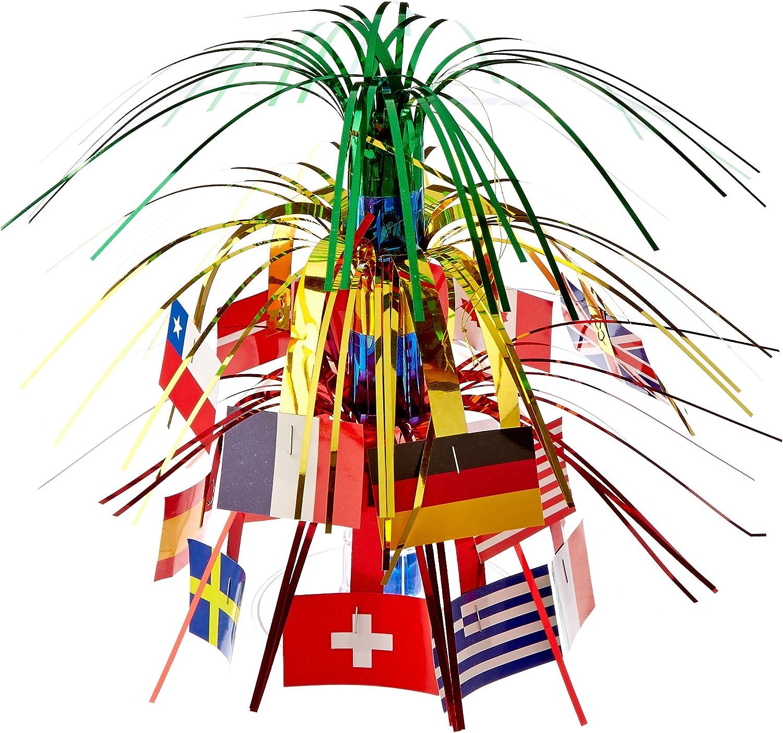 Beistle International Flag Miniature Cascade Centerpiece, 71/2-Inch