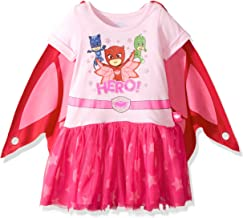 PJ Masks Girls' Little Dress W/Tulle and Wing Cape