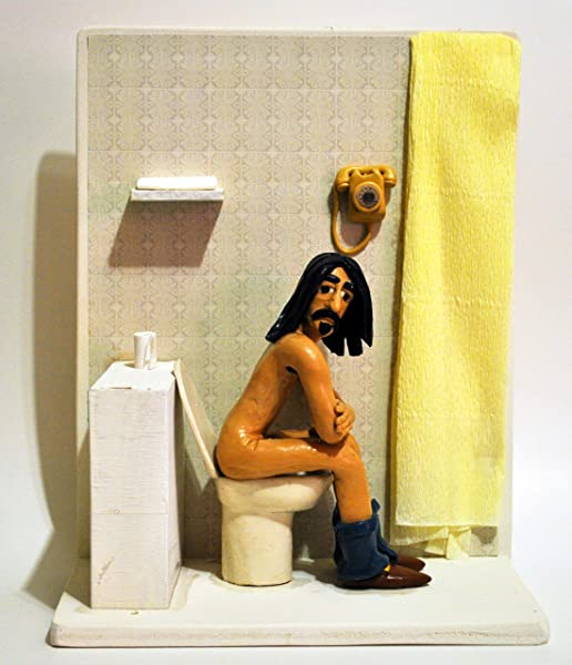 Figurine Action Figure 22cm 8 6 Frank Zappa On A Toilet In London