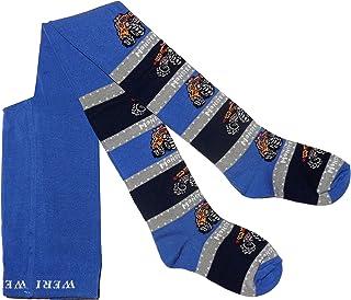 Weri Spezials Leotardos para ni/ños dise/ño de gato color azul marino y gris