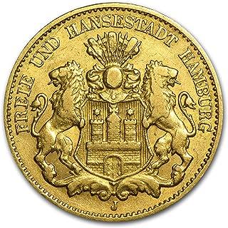 1875 DE 1913 Germany Gold 10 Marks Hamburg Avg Circ (Random) Gold Very Good