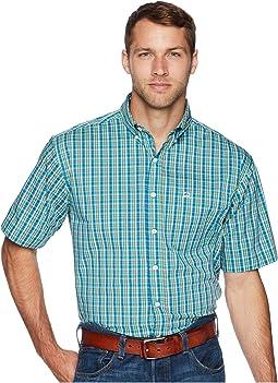 Athletic Plaid Short Sleeve