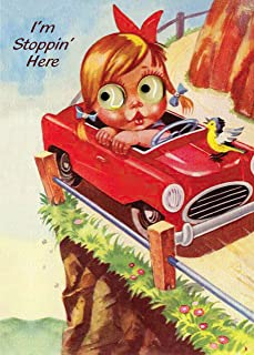 (6-pack) Girl in a Red Convertible XXth Century Birthday Card - 20179