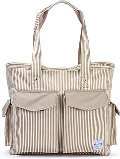 حقيبة حمل متعددة الاستخدامات مع حقيبة يد مقلمة من القماش متعددة الجيوب للممرضات والأمهات لكرة القدم