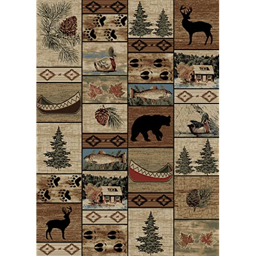 Cabin Rugs 8x10 Amazon Com