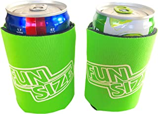 KCC Industries 8 oz. Mini Beer & Soda Slim Can Sleeves - Set of 2 Fun Size Coolies (Lime Green)