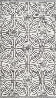 "Safavieh Montauk Collection MTK606J Handmade Cotton Runner, 2'3"" x 7' , Charcoal / Ivory"