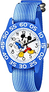 Disney Kids' W002371 Mickey Mouse Time Teacher Watch with Blue Band