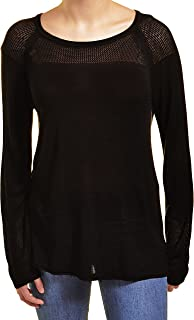 525 America Womens Crew Neck Laced Shoulder Detail Sweater