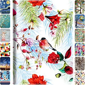 DuraSafe Cases for iPad Mini 4 Gen 2015 7.9 Inch [ Mini 4th ] Smart Auto Sleep / Wake Slim Profile with Adjustable Viewing Angle Stand Printed Flip Cover - Birds & Flowers