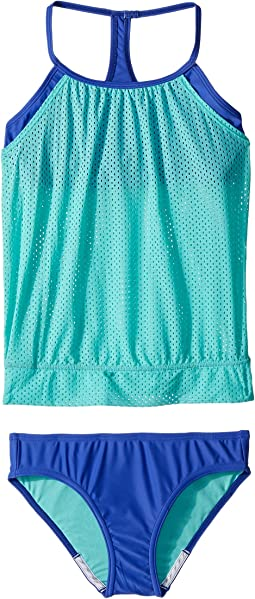 Speedo Kids - Blouson Tankini Two-Piece Swimsuit Set (Big Kids)