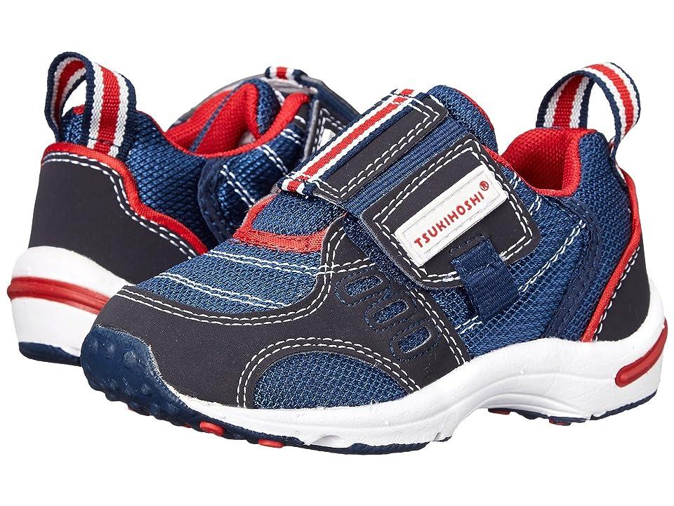 Tsukihoshi Kids Euro (Toddler/Little Kid) (Navy/Red) Boys Shoes