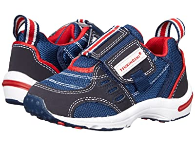 Tsukihoshi Kids Euro (Toddler/Little Kid) (Navy/Red) Boys Shoes