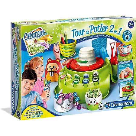 Clementoni Créateur de Talents - Tour de Potier 2 en 1-avec Chargeur- 52312