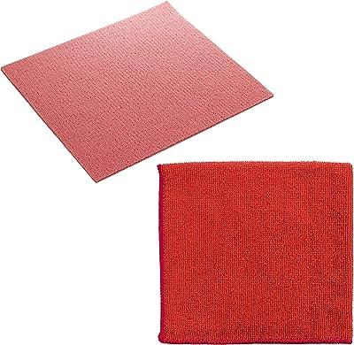 Target Shine 8 Pc Wipes 6 Sponge with 2 Micro Fibre (Multicolor, Medium)