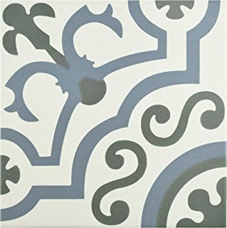SomerTile FCD10HDU Hydro Ducados Porcelain Floor and Wall Tile, 9.75