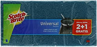 Scotch-Brite Estropajo Laminado Universal, Azul-No Raya, 2+1