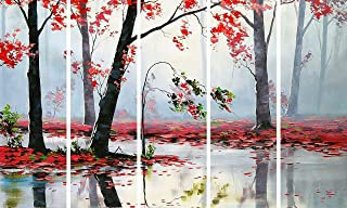 Kyara arts Big Size Multiple Frames, Beautiful Nature Wall Painting for Living Room, Bedroom, Office, Hotels, Drawing Room...