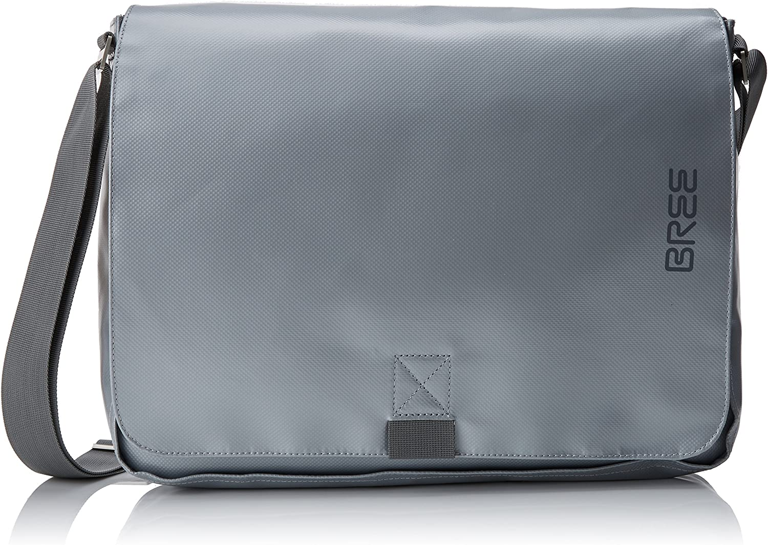 BREE Punch 49, Shiny Silver, Messenger B. S18, Unisex Adults' Shoulder Bag, silver (Silver), 8x28x38 cm (B x H T)